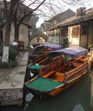 Chinese Water Taxis in Wuzhen, Tongxiang China Stock Photos