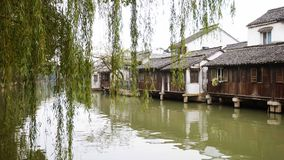 Chinese water town. Today to get people to leave the town's cultural customs memories Royalty Free Stock Photography