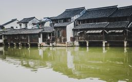 Chinese water town. Today to get people to leave the town's cultural customs memories Royalty Free Stock Images