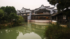 Chinese water town. Today to get people to leave the town's cultural customs memories Stock Image