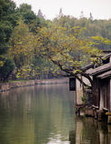Chinese water town. Today to get people to leave the town's cultural customs memories Stock Images