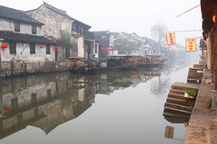 The Chinese water town - Xitang at the morning Royalty Free Stock Images