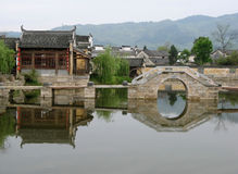 Chinese water village Royalty Free Stock Photo