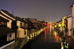 Chinese Water Village Stock Photography