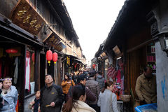 Chinese water village Xitang in Zhejiang Province Stock Photography