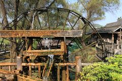 Chinese Water Wheel Royalty Free Stock Photos