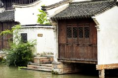 The Chinese watery town buildings Royalty Free Stock Photography