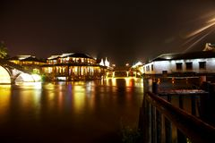 The Chinese watery town buildings Royalty Free Stock Photos