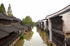 The Chinese watery town buildings Royalty Free Stock Image
