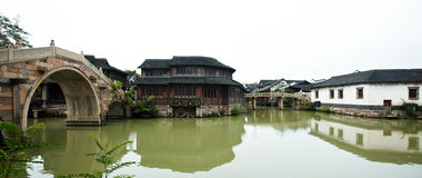 The Chinese watery town buildings Royalty Free Stock Images