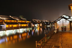 The Chinese watery town buildings Royalty Free Stock Photo