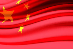Chinese waving flag. Computer generated image of a chinese waving flag royalty free illustration