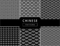 Chinese wavy pattern Royalty Free Stock Images