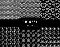 Chinese wavy pattern Stock Photography