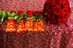 Chinese wedding bouquet Royalty Free Stock Photo