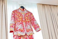 Chinese wedding clothes Royalty Free Stock Photos