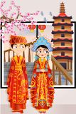 Chinese Wedding Couple Royalty Free Stock Photography