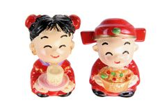 Chinese Wedding Couple Figurines Royalty Free Stock Photos