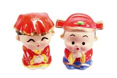 Chinese Wedding Couple Figurines Royalty Free Stock Images