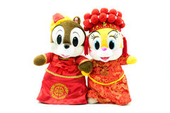 Chinese wedding dolls Stock Image