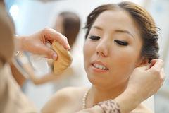 Chinese wedding makeup Stock Photo