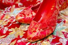 Chinese wedding shoes Royalty Free Stock Image