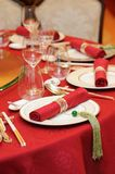 Chinese wedding table set Stock Image