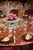 Chinese wedding table set Royalty Free Stock Photography