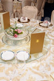Chinese wedding table set Stock Photo