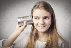 Chinese whispers Royalty Free Stock Photography