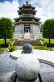 Chinese White Castle in Thailand. Stock Photo