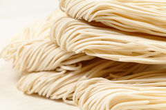 Chinese white noodle. In close up Stock Photography