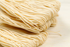 Chinese white noodle. Texture close up Stock Photos
