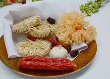 Chinese white noodle close up Stock Photo