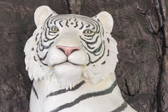 Chinese White tiger statue house Stock Photos