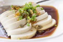 Chinese white tofu dish Stock Photo