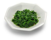 Chinese white wine stir fried with toothed bur clover Stock Image