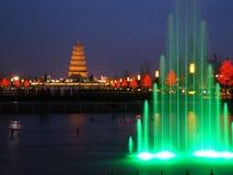 Chinese wilde de ganspagode van Xian Royalty-vrije Stock Fotografie