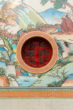 Chinese window. Chinese style window with drawing royalty free stock photography