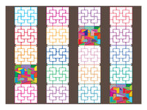 Chinese window design modern colors Stock Image