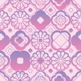 Chinese window flower diamond seamless pattern Royalty Free Stock Images