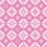 Chinese window four diamond pink modern seamless pattern. This illustration is abstract Chinese window with diamond shape decoration and pink colors background Royalty Free Illustration