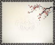 Chinese window frame. Background theme royalty free illustration