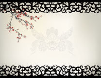 Chinese window frame Stock Images