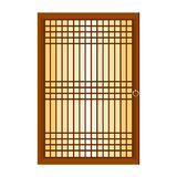 Chinese window isolated illustration Stock Images