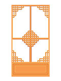 Chinese window isolated illustration Stock Image