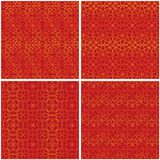Chinese window red Fu set seamless pattern Stock Images