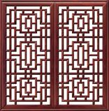 Chinese Windows. Chinese wooden windows with patterns royalty free illustration
