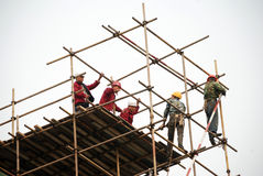 Chinese bouwer royalty-vrije stock afbeelding