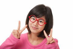 Asian Woman displaying attitude isolated on white background Royalty Free Stock Photos
